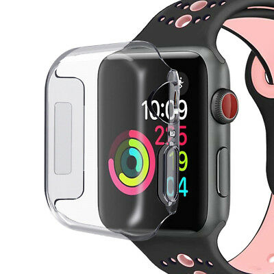 3D Full Cover Slim Clear Case Screen protector For Apple Watch Series 4 (44mm)