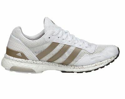 separation shoes 21370 94a70 Womens Adidas Adizero Adios White Grey Running Training Gym Runners Yoga  Shoes