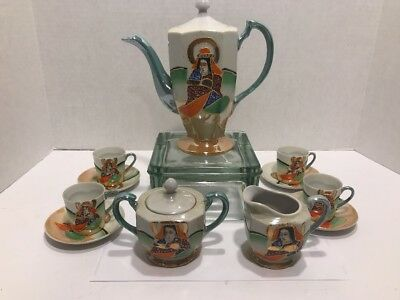 Small Satsuma  11 Pc Tea Set  Luster ware
