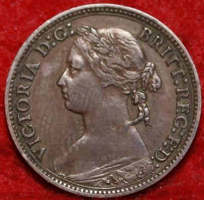 1879 Great Britain Farthing Foreign Coin