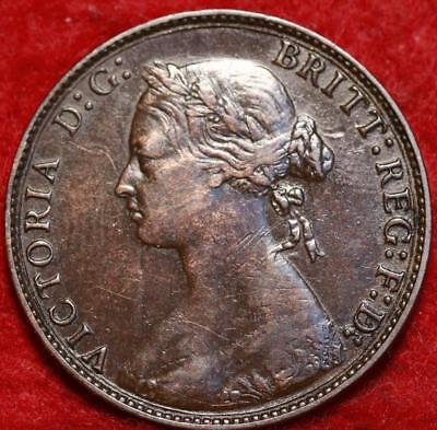 1875 Great Britain 1/2 Penny Foreign Coin