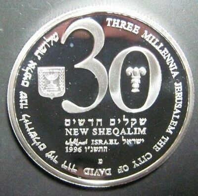 1996 Israel 30 New Sheqaum 5 oz Silver Proof in Capsule ** Free U.S. Shipping **