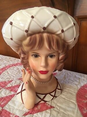 Lady Head Vase-Rare Relpo