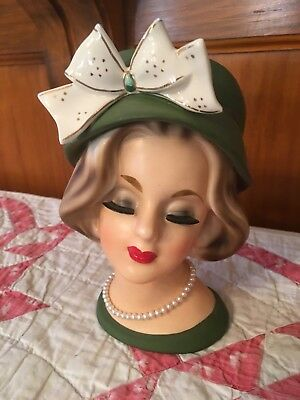 Lady Head Vase-Enesco