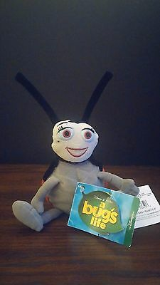 "Disney Store Exclusive A Bug's Life Francis 8"" Plush Bean Bag Toy W/ Tags"