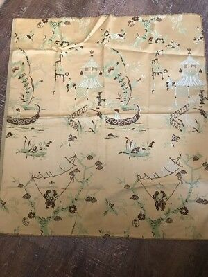 "Beautiful Vintage Japanese Silk Embroidery  24"" x 26"""