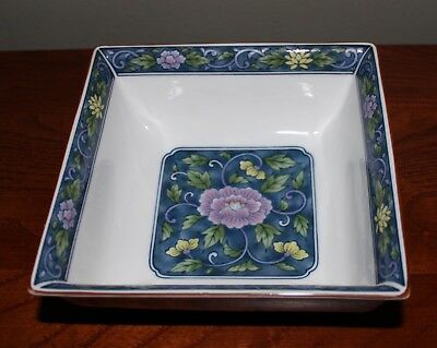 """Lovely 6"""" Square Decorative Bowl Shades Of Blue, Lavender, Green Andrea By Sadek"""