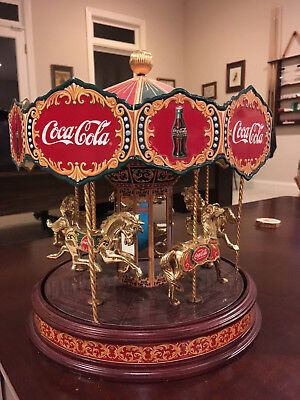 Rare Franklin Mint 1997 Collectors Edition Coca Cola Musical Carousel
