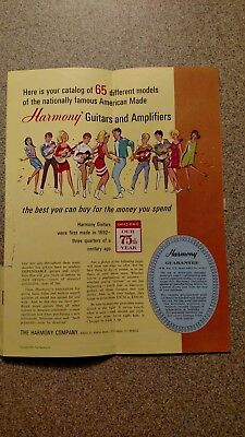 Vintage Harmony Guitar Mailer Sales Catalog 1967 Amps Basses Chicago Factory