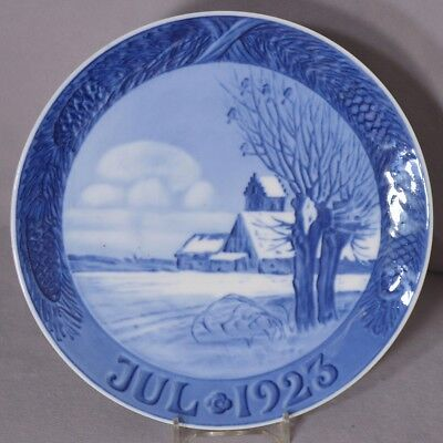 ROYAL COPENHAGEN 1923 Christmas Plate –Snow Covered Landscape with Church