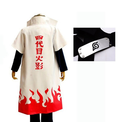 Anime Naruto 4th Yondaime Namikaze Minato Cosplay Costume Cloak Coat Halloween