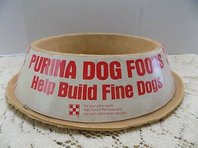 Old Advertising Purina Dog Food Bowl Paper Mache Paper Label