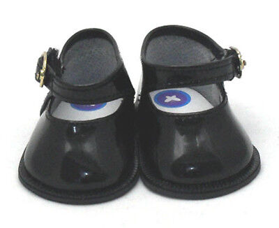 Doll Shoes - Black Patent Mary Janes for Baby Born / Baby Alive