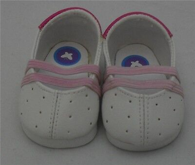 Doll Shoes - White / Pink Dress Shoe for Baby Born / Baby Alive