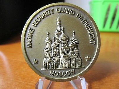 Marine Security Guard Detachment Moscow Russia USMC MSG Challenge Coin #4697