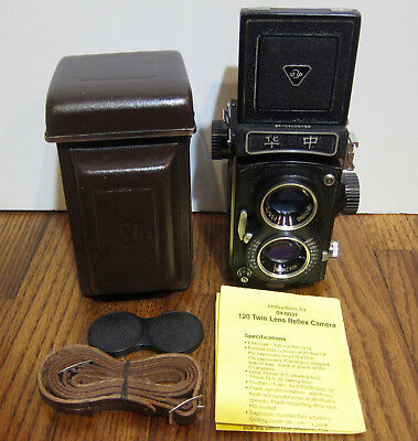 Twin-Lens Reflex (TLR) Camera 75 mm F3.5 Lens 120 Film Medium Format VERY NICE!