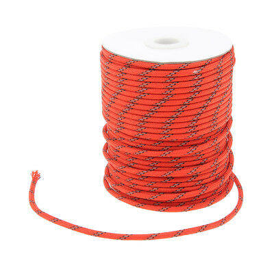 Outdoor Camping Tent Reflective Guyline Rope Luggage Package Clothesline 50m