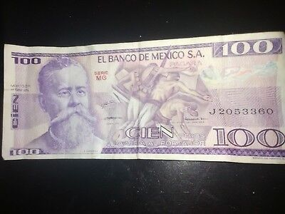 100 Peso  1979 good shape