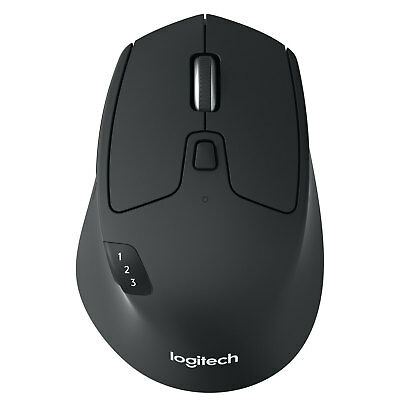 Logitech M720 Triathlon USB Optical Ergonomic Bluetooth Wireless Mouse PC Mac