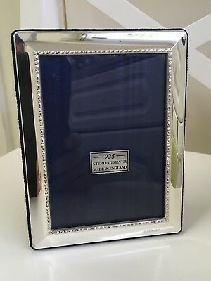 Beautiful Solid Silver Photo Frame by Carr's of Sheffield 2005 (15cm x 11.5cm)
