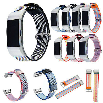 Nylon Fabric Wristwatch Band Strap For Fitbit Charge 2 Activity Fitness Tracker