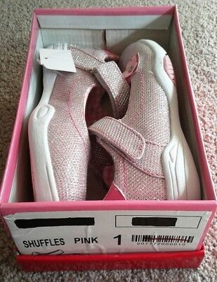 Polyanna pink shoes girls size 1 AUS and OPSK watch