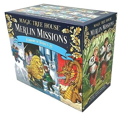 Magic Tree House Merlin Missions #1-25 Boxed Set by Mary Pope Osborne (Box set)