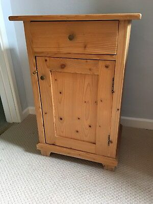 Antique Victorian / Edwardian  Old Pine Bedside Cupboard .