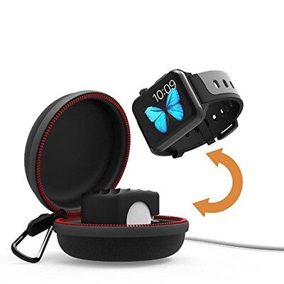 Portable Travel Charging Holder Dock Protective Case Bag Pouch For Apple Watch