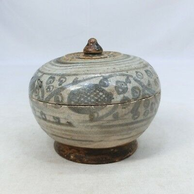 G324: Southeast Asian old porcelain covered case of SUNKOROKU from Thailand.