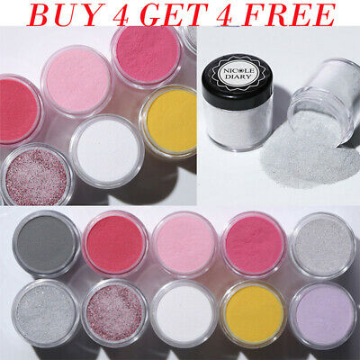 NICOLE DIARY Nail Dip Dipping Powder Shimmer Gel Polish Acrylic Tips Decoration