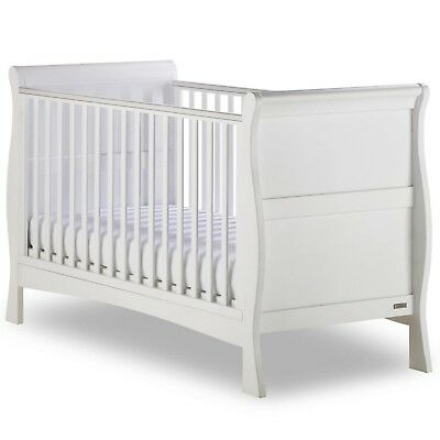 Izzy WotNot Bailey White Sleigh Cot bed from Birth to 7 years
