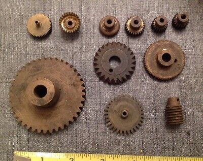 Collection Antique Music Box Cogs And Gears
