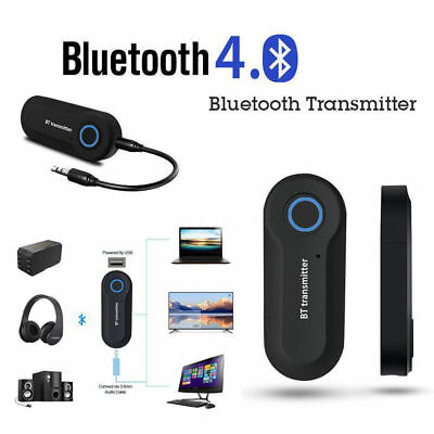 Wireless Bluetooth 4.2 Transmitter Music 3.5mm Audio Adapter for TV Phone PC
