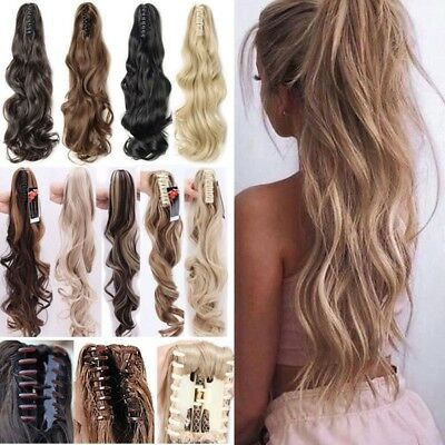 Hair Extension Hair Wave Ombre Claw Jaw Pony tail Clip Synthetic Ponytail New