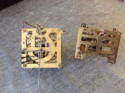 Antique Cuckoo Clock Movements Pair For Restoration From Clockmakers Spare Parts