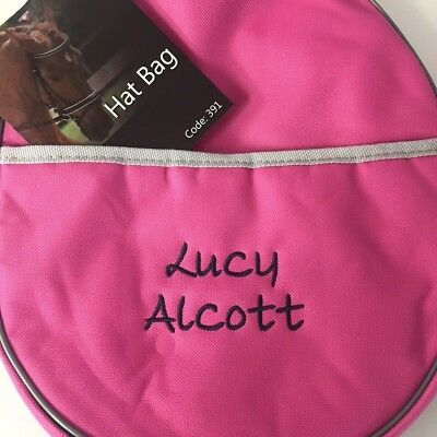 Personalised Riding Hat Bag, Horse Riding Bag, Personalised Horse Gift