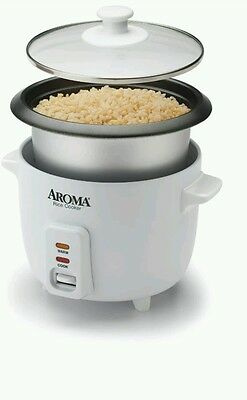 Brand New in Box Aroma 6-Cup Rice Cooker Pot Style Easy Clean One-Touch Cooker