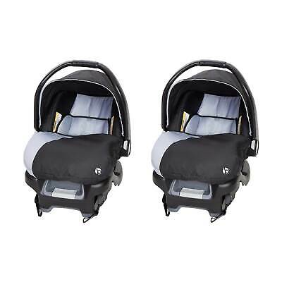 Baby Trend Flex-Loc Adjustable 35 Pound Infant Car Seat & Base, Stormy (2 Pack)