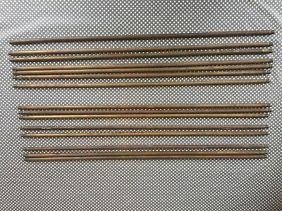 """Vintage Set Of 15  Brass 30"""" Stair Rods"""