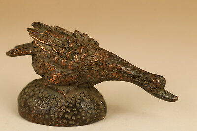 chinese old Bronze Hand Carved Duck Statue Figure ornament collectable