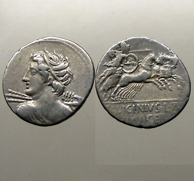 LICINIA 16 SILVER DENARIUS___Roman Republic___WROTE THE HISTORY OF ROME
