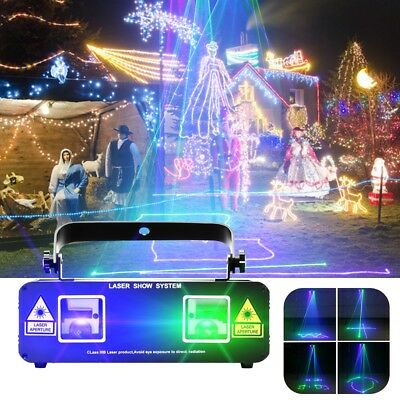 50mW Green and 200mW Blue Laser Pattern Projector Stage Lighting Diso DJ lights