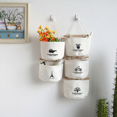 Vintage Wall Hanging Storage Bag Organizer Toys Container Pocket Pouch Decor CA