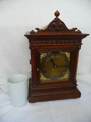 Antique Miniature 1/4 Striking Bracket/Mantel clock W&H  Working Order With Key
