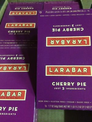Larabars Fruit And Nut Food Bars Cherry Pie 64ct Gluten Soy Dairy Free Non GMO