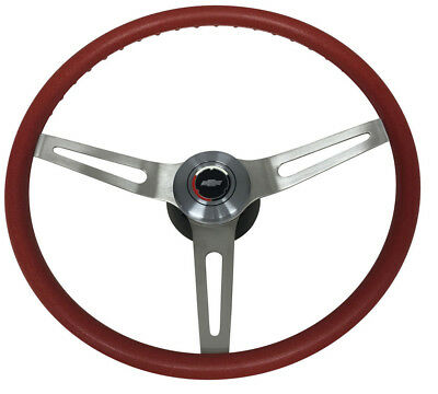 3 spoke comfort grip steering wheel. with GM 3 7/8 mounting hub red