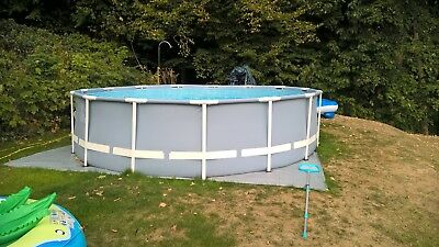 Intex 457x107 stahl rahm Pool