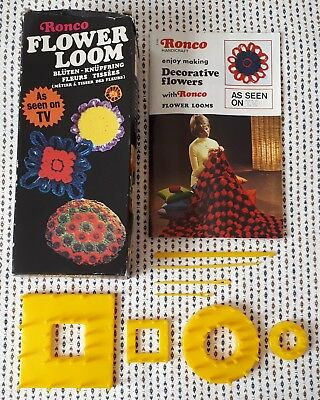 Vintage Ronco Flower Loom Set
