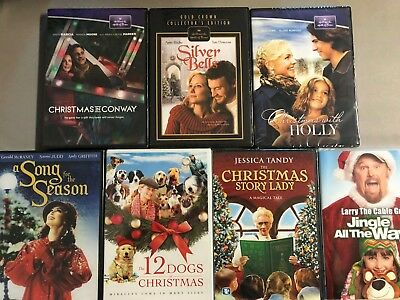 New DVD lot Free Ship Hallmark Christmas Conway Holly Silver Bells Story Lady Ji